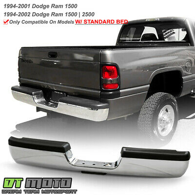 1994-2001 Dodge Ram 1500 2500 3500 Chrome Complete Rear Step Pad Bumper Assembly