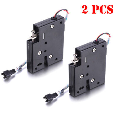 2pcs Dc12v Iron Secure Electric Door Release Rim Mortice Lock Strike Cabinet
