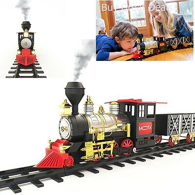 Train Set for Christmas Electric Toy Trains MOTA Classic Holiday Real Smoke -NEW