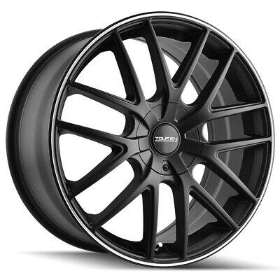 "4-Touren TR60 18x8 5x100/5x4.5"" +40mm Matte Black/Ring Wheels Rims 18"" Inch"