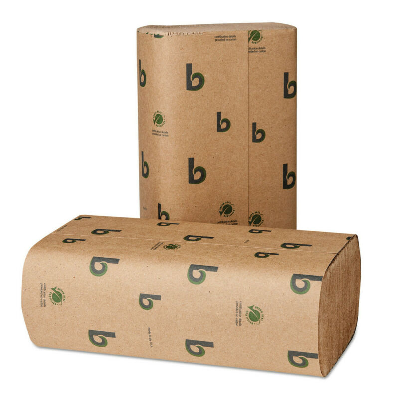 Bobrick 10GREEN 250/Pack 9.3 in. x 9.5 in. Green Multifold Towels New