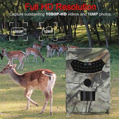 UK Wildlife Camera HD 1080P 12MP Game Hunting Trail Camera PIR Night Vision
