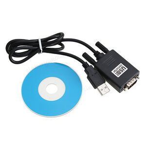 USB 2.0 to Serial RS-232 DB9 9Pin Adapter Converter Cable Windows Win 7/8/10 1M