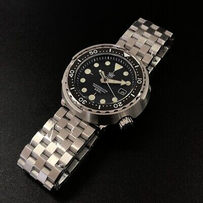 UK STEELDIVE SD1975 Automatic 300m Diver Watch NH35**FREE BRANDED RUBBER STRAP**
