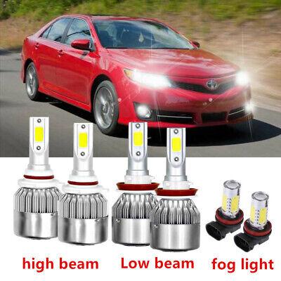 6x Car Led Lights For Toyota Camry 2007-2014 LED Headlight Fog Light Bulbs Kit