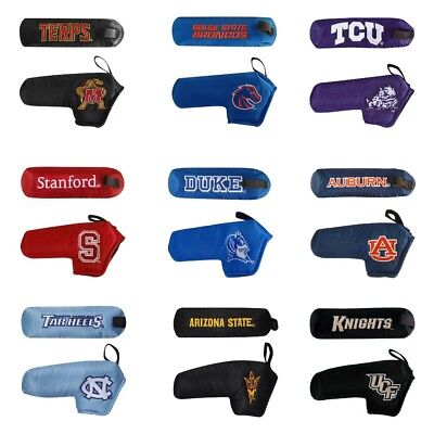 NEW Team Effort Golf NCAA College Mascot Blade Putter Head Cover Pick Your (College Putter Cover)