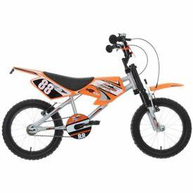 Brand new mxr50 kids bike with matching helmet