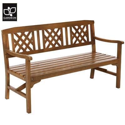 Garden Furniture - Gardeon Wooden Garden Bench 3 Seat Outdoor Chair Lounge Patio Furniture Timber