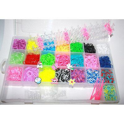 Loom Band Armbänder (4400 ++ BOX Koffer Loom Bands Gummis Webrahmen Armbänder Rahmen Gummibänder Rahm)