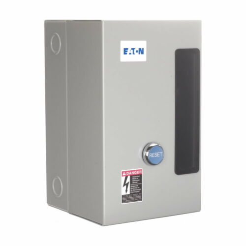 NEW EATON SIZE 00 ENCLOSED MOTOR STARTER AN16AN0 9 AMP 120V COIL 2 HP ECN05A1AAA