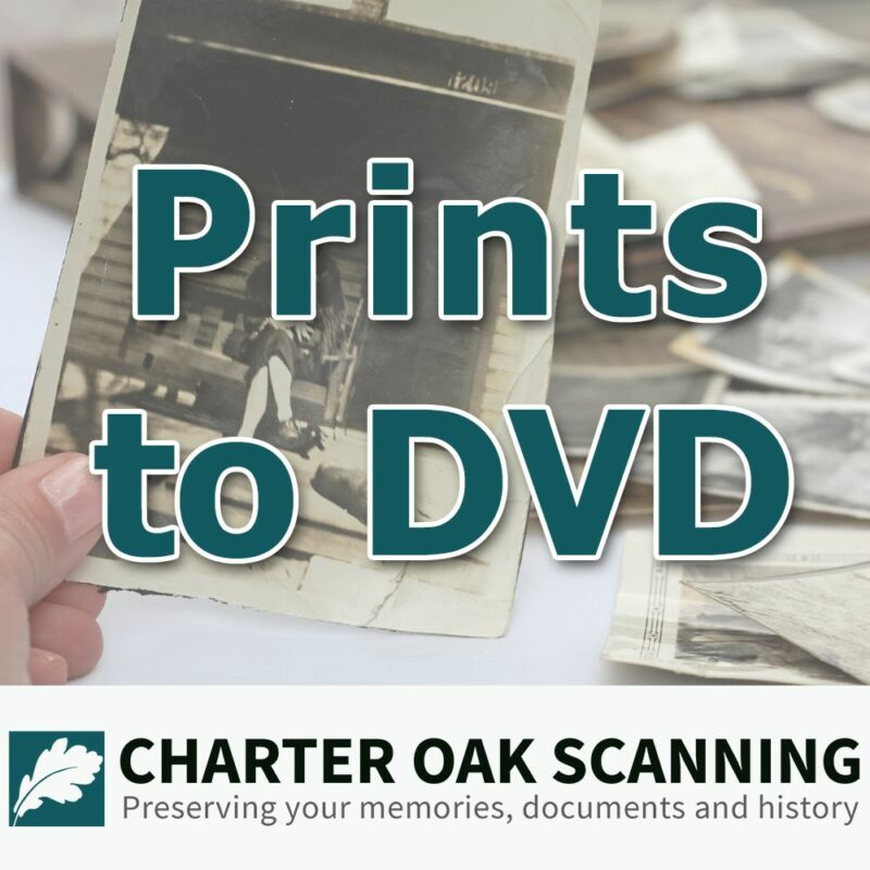100 Prints converted to DVD [Photo Scanning Service]