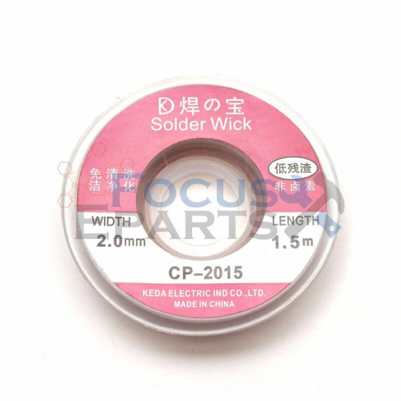 5Ft 2.0mm Goot Wick Desoldering Copper Braid Solder Remover Spool Flux Wick Wire