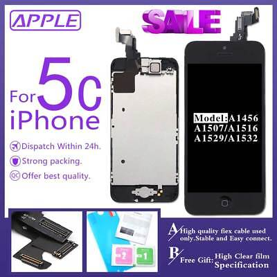 OEM Replacement For iPhone 5C Black Touch Screen LCD Digitizer with Home Button