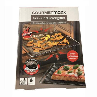 GOURMETmaxx Grill und Backgitter ausziehbar für Backöfen Grillblech Grillrost