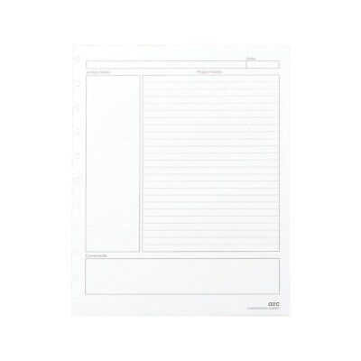 Staples Premium Arc Notebook System Refill Paper 8.5x11 50 Sh College Rule Whi