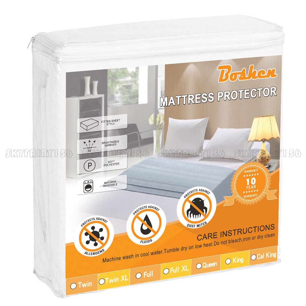 Mattress Cover Waterproof  Bed Bedding Sheet Protector Fitted Deep Pad Soft