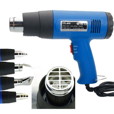 Used, Heat Gun Hot Air Gun Dual Temperature 4 Nozzles Power Tool 1500W Paint Stripper for sale  Shipping to Canada