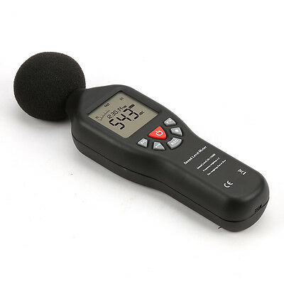 Digital Sound Level Decibel Meter Logger Noise Audio Tester 30-130db Measurement