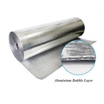 Double Aluminium Single Layer Bubble Wrap Foil Insulation 1.2m x 25m Loft Floor