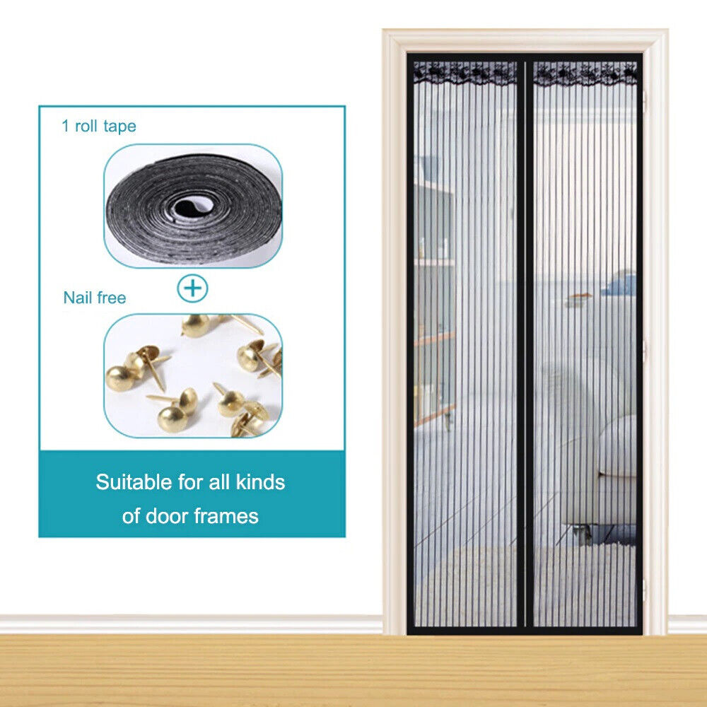 Magnetic Screen Door Mesh Hands-Free Net Mosquito Fly Insect Bug Curtain Closer 7