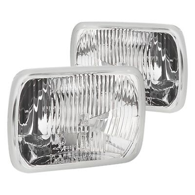 """For Ford F-150 78-86 Headlight 7x6"""" Rectangular Chrome Vision Plus Factory Style"""
