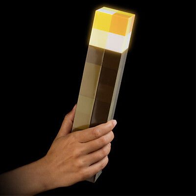 Minecraft Torch Light Up Bright Children Kids Xmas Toys Wall Mountable Lamp Gift