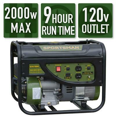 Sportsman 2000-watt Quiet Portable Gas Powered Generator Home Backup Rv Camping