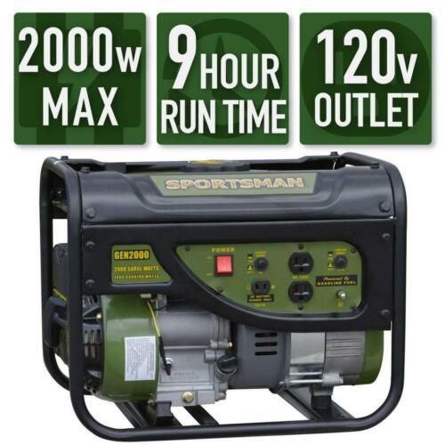 Sportsman 2000-Watt Quiet Portable Gas Powered Generator Home Backup RV Camping
