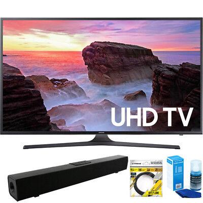 Samsung 65  4K Hdr Ultra Hd Smart Led Tv 2017 Model   Bluetooth Sound Bar Bundle