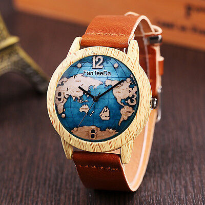 $1.50 - Luxury Leather Band Analog Quartz Round Wrist Watch Watches Coffee