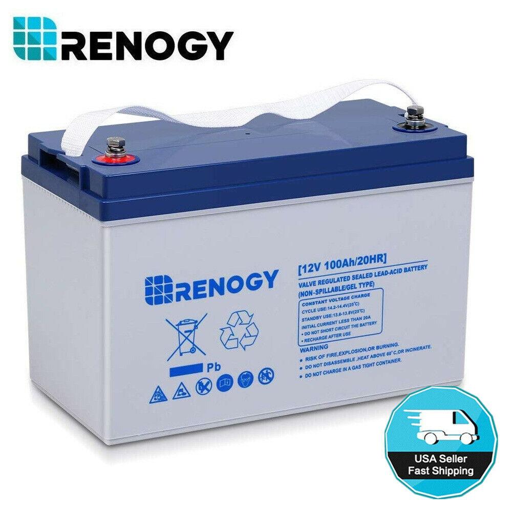 Renogy 100Ah 200Ah 12V Deep Cycle Pure GEL Rechargeable Batt