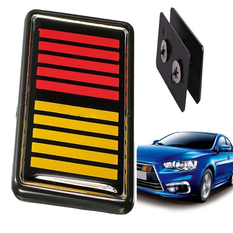 Car Front /& Radiator Grilles For Lancer Evolution X K Double Color Front Grille Emblem Badge Ralliart