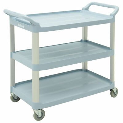 Hubert Transport Cart Grey Plastic Large - 40 14 L X 19 78 W X 37 H