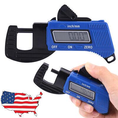 Portable Precise Digital Thickness Gauge Meter Metal Tester Micrometer Lcd