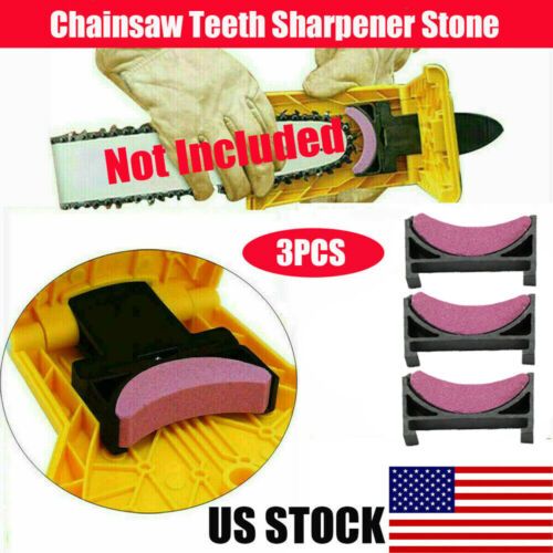 3Pcs Woodworking Chain Saw Sharpener Sharpening Stone ChainsawTeeth Grinding Chainsaw Parts