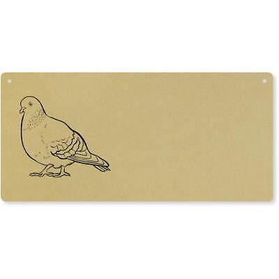 'Pigeon' Large Wooden Wall Plaque / Door Sign (DP00038094)