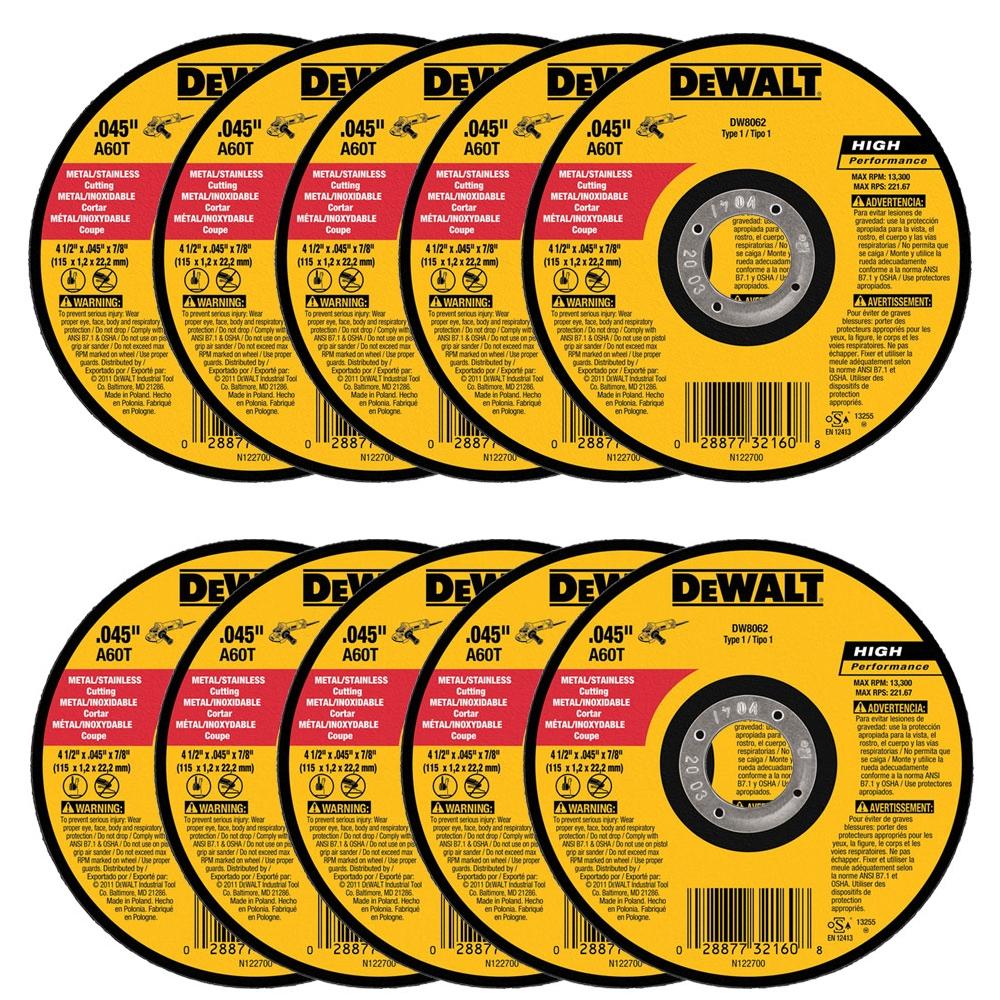 7-Inch X .045-Inch X 7//8-Inch DEWALT DW8854 XP Cutoff Wheel