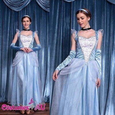 Womens Princess Cinderella Costume Book Week Halloween Fancy Dress Party Outfit](Cinderella Dress For Women)