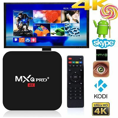 4K MXQ Pro Smart TV BOX Android 6 Marshmallow Quad Core 8GB Box S905X