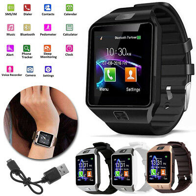 Fashion DZ09 Bluetooth Smart Watch Phone &Camera SIM Card Fit Android IOS Phones