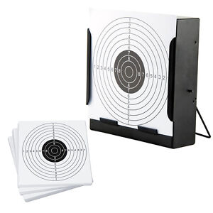 14cm Funnel Target Holder + 100 Targets Air Rifle Pellet Trap Shooting Airsoft