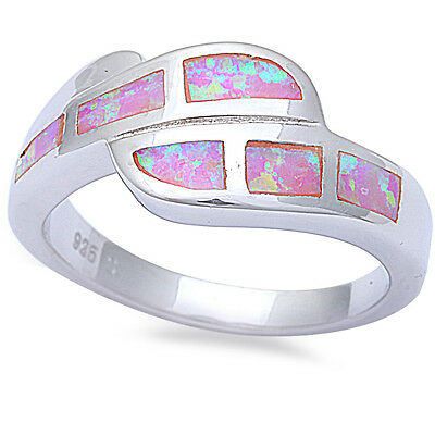 Pink Opal Fashion .925 Sterling Silver Ring Sizes 5-10