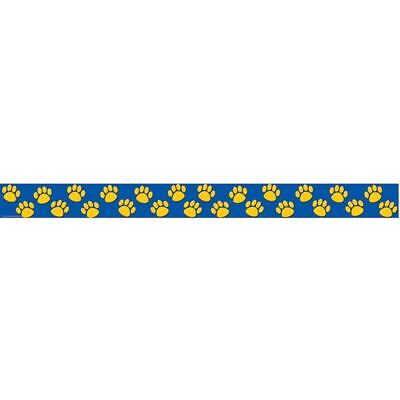Blue With Gold Paw Prints Straight Border Trim Teacher Created Resources Tcr4643