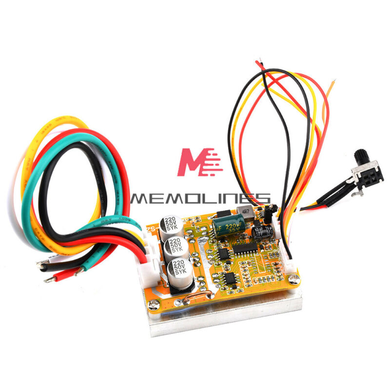 Bldc Three-phase Sensorless Brushless With Hall Motor Controller Dc 5-36v 350w