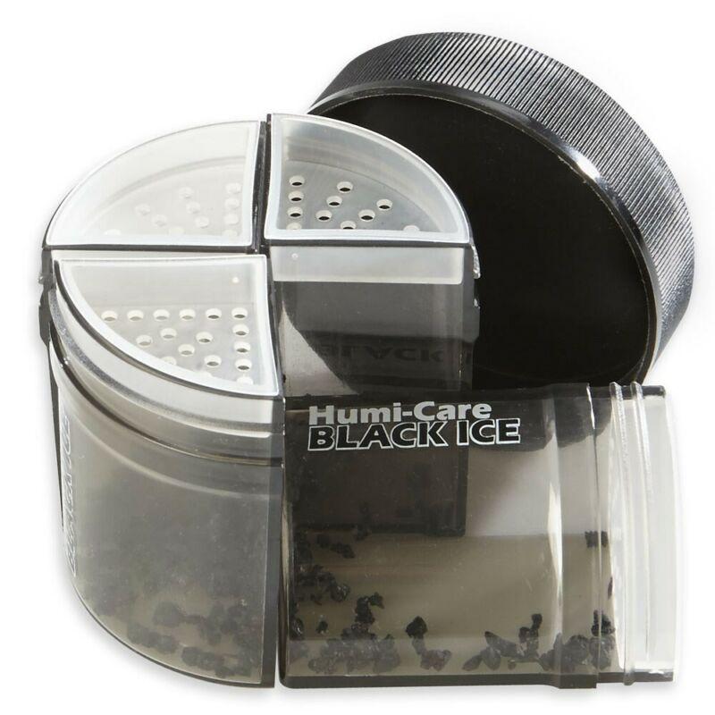 HUMI-CARE Black Ice 4 oz Cigar Humidor Humidifier - PG Beads - 4 Piece Pie Jar