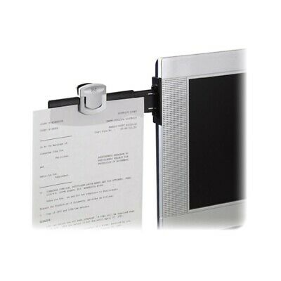 3m Dh240mb Monitor Mount Dual Document Clip Holder Black