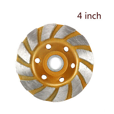 4 Inch Diamond Abrasive Disc Cup Wheel For Grinding Granite Concrete Masonry 12t
