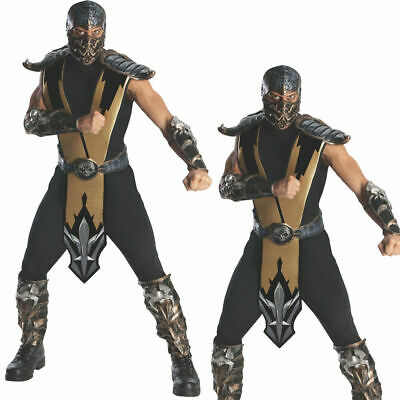 Herren Mortal Kombat Skorpion Kostüm Ninja Krieger Halloween Kostüm Std - Herren Mortal Kombat Kostüm