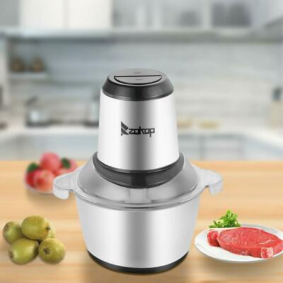 ZOKOP 300W 2L Easy Use Electric Meat Grinder Kitchen Food Mincer Stainless Steel