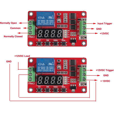 Multifunctional 12v Dc Self-lock Relay Plc Cycle Timer Module Delay Time Switch